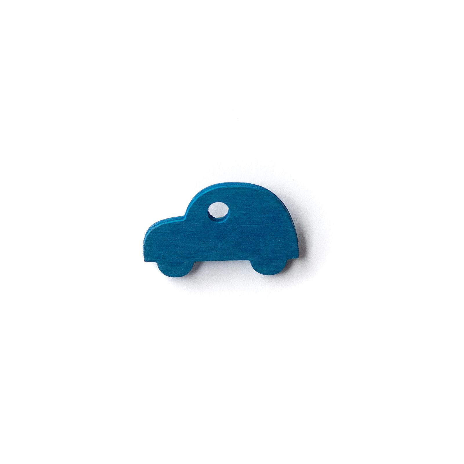 Button Auto blau