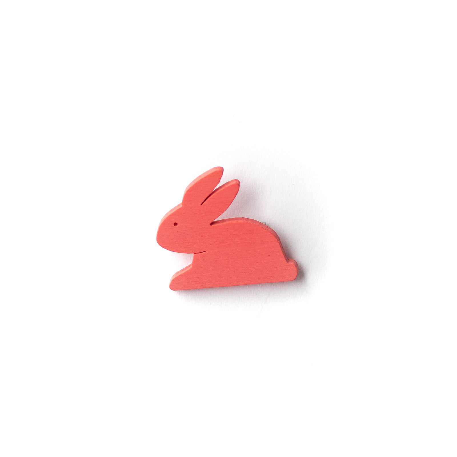 Button Hase pink