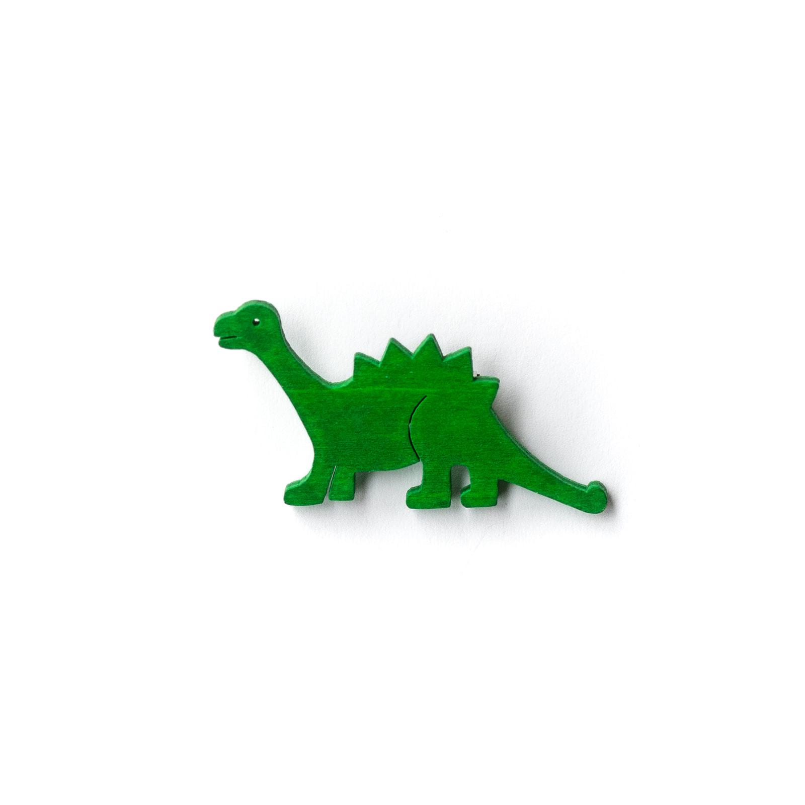 Button Dinosaurier grün