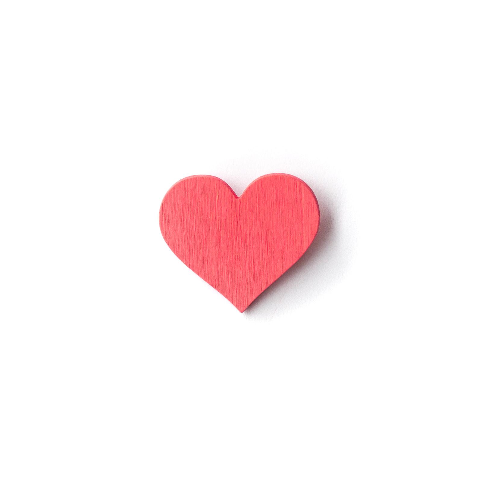 Button Herz pink