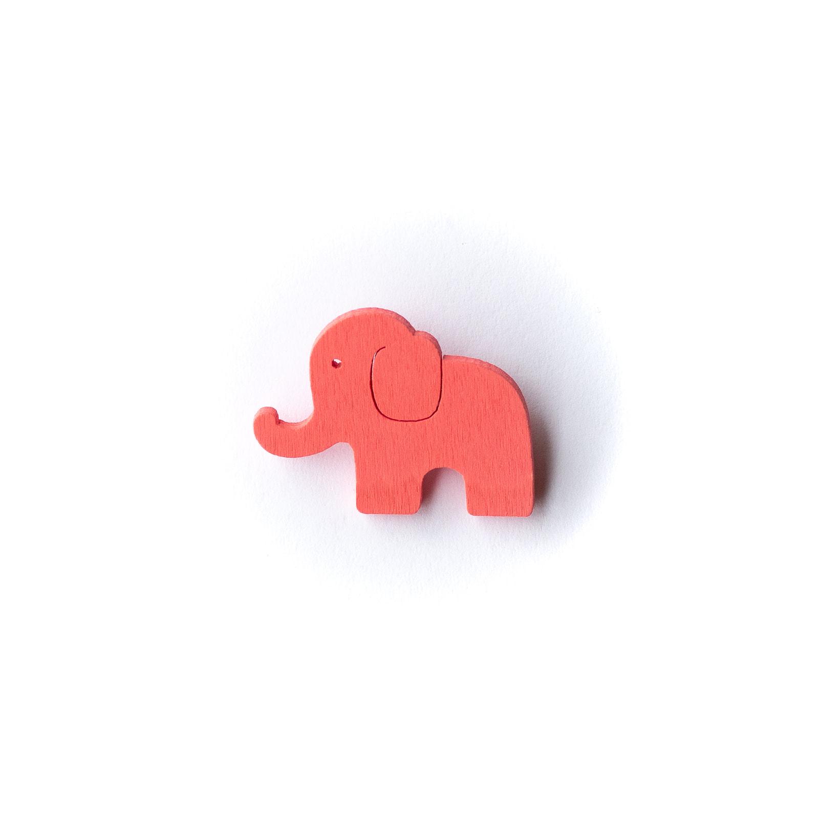 Button Elefant pink