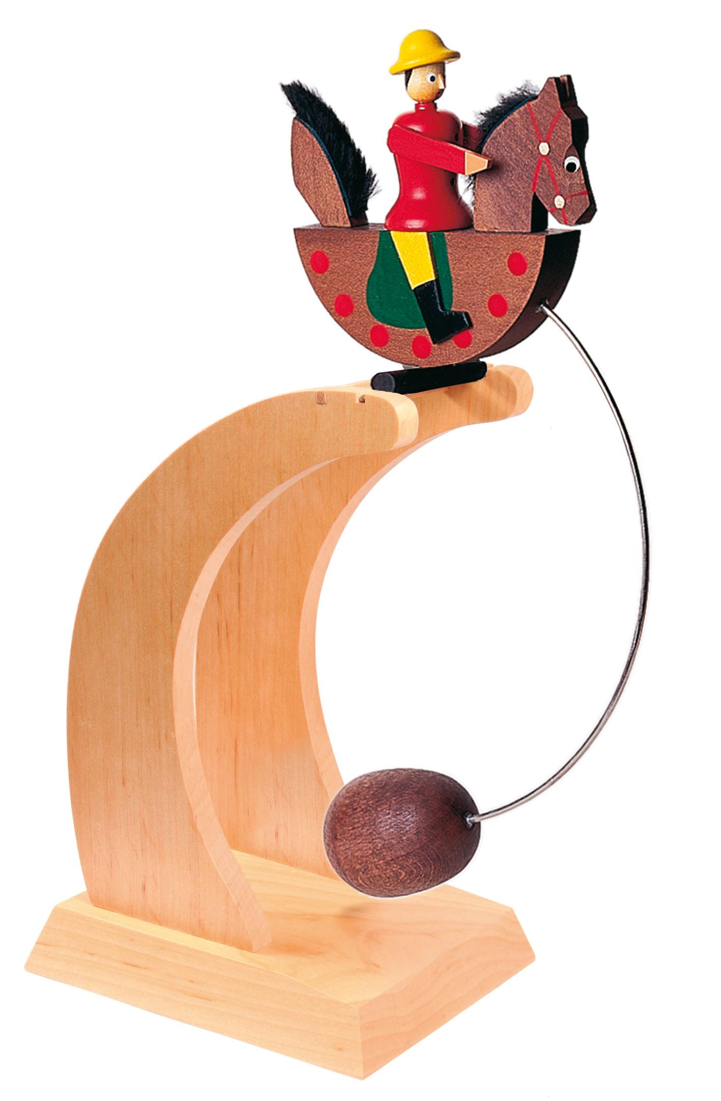 Seiffener Reiterlein Impulsgeber mit rotem Reiter