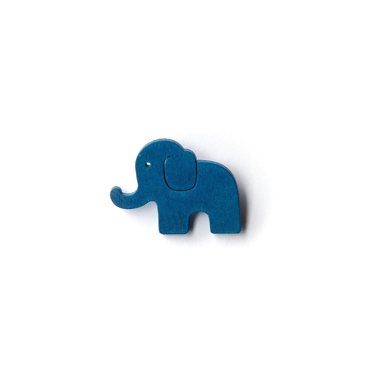 Button Elefant blau