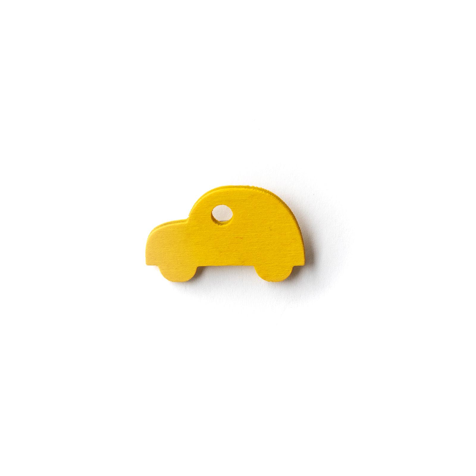 Button Auto gelb