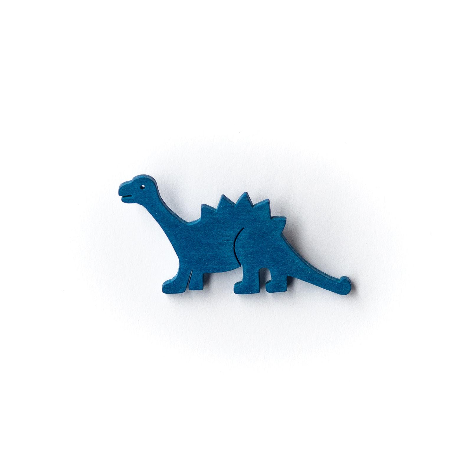 Button Dinosaurier blau
