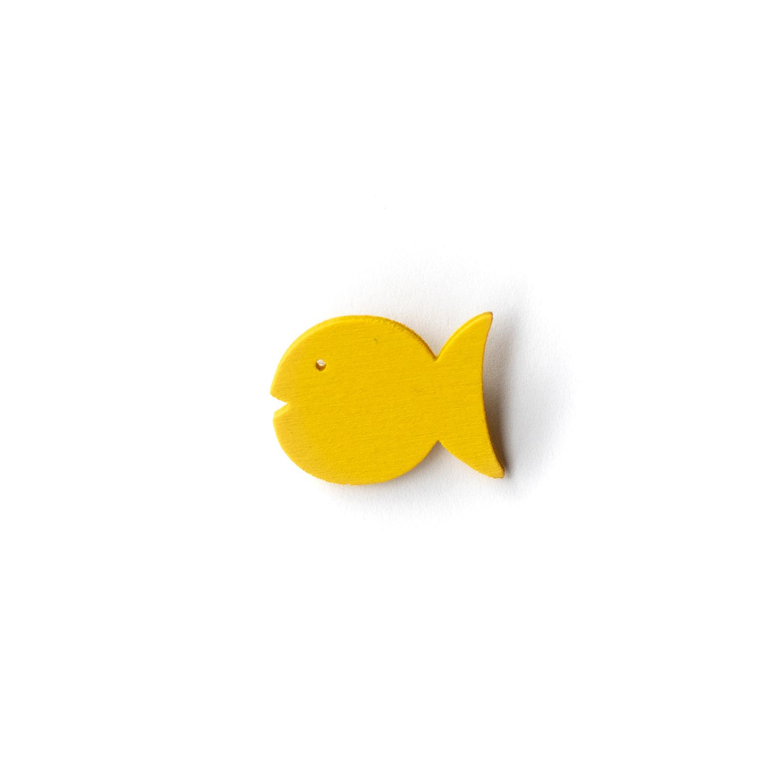 Button Fisch gelb