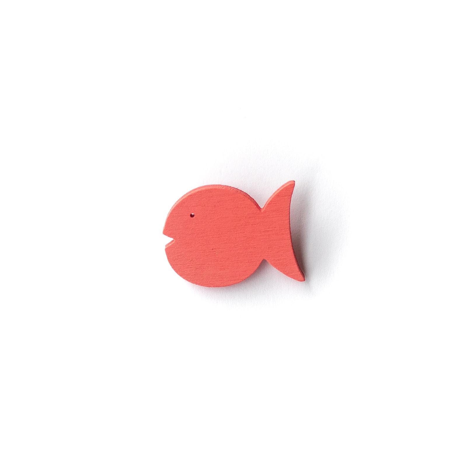 Button Fisch pink