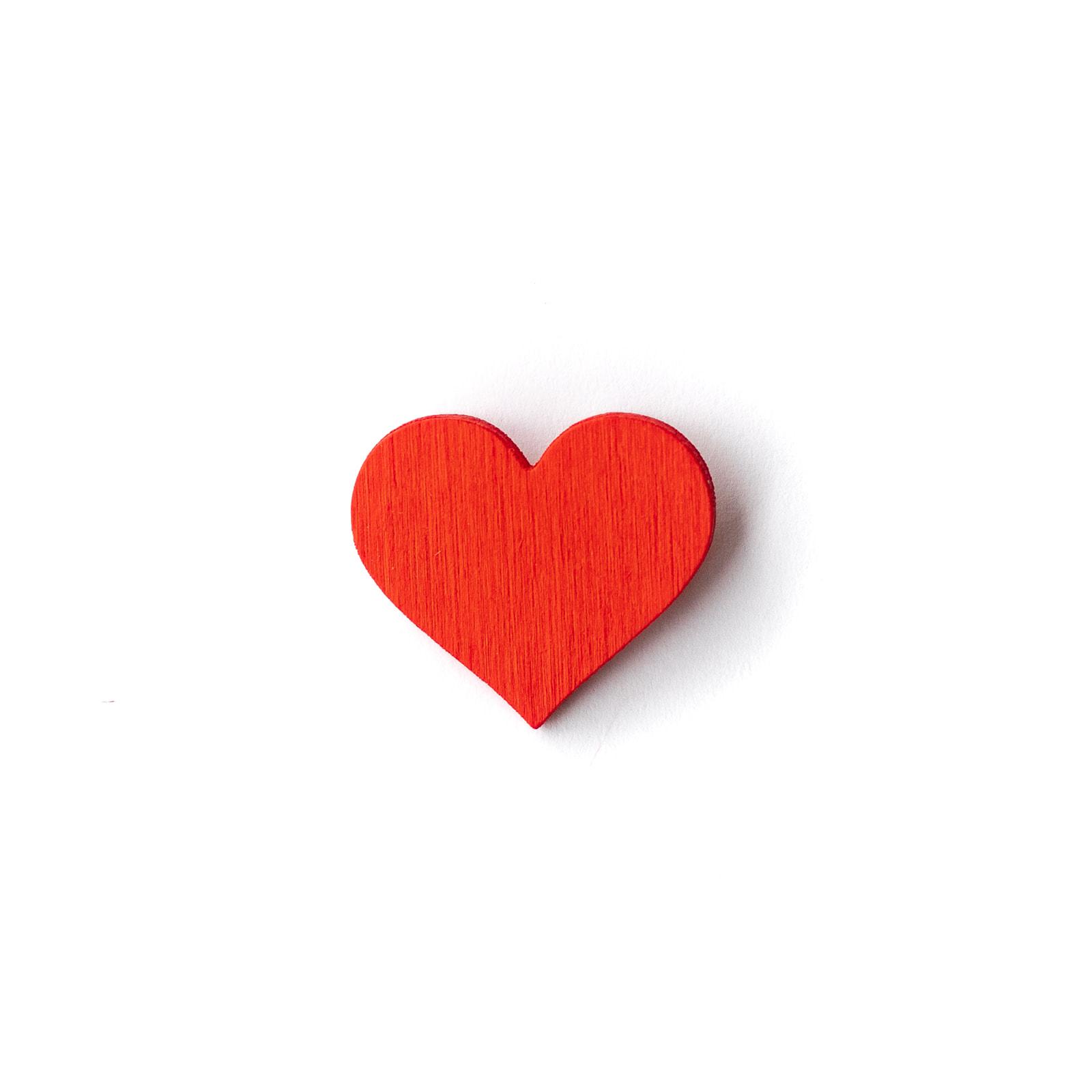 Button Herz rot