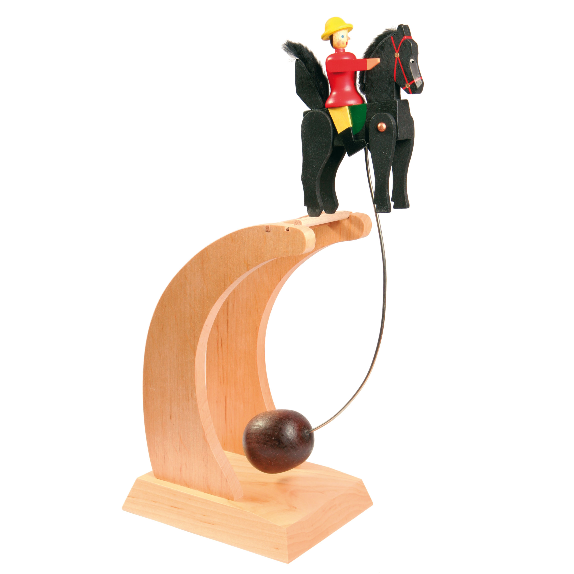 Wackelreiter mit Impulsgeber roter Reiter