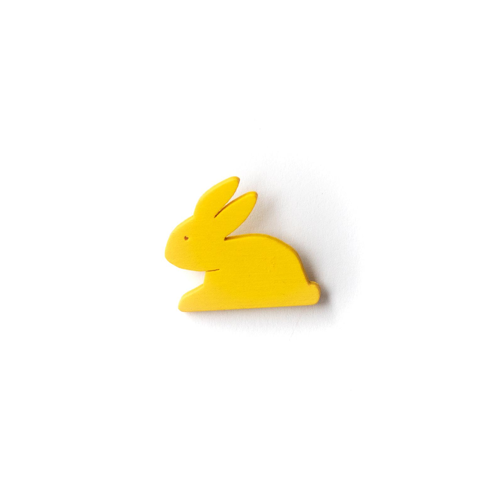 Button Hase gelb