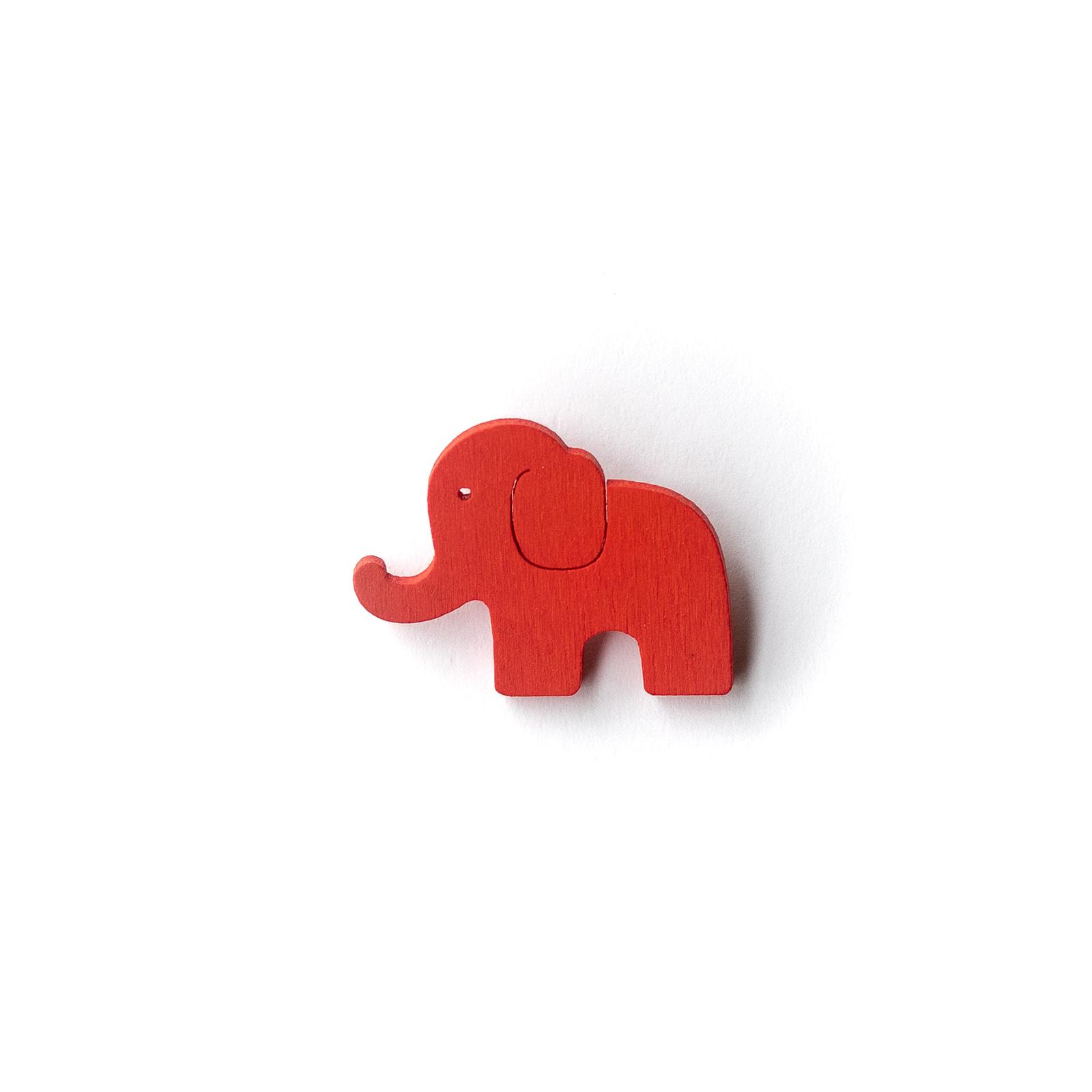 Button Elefant rot
