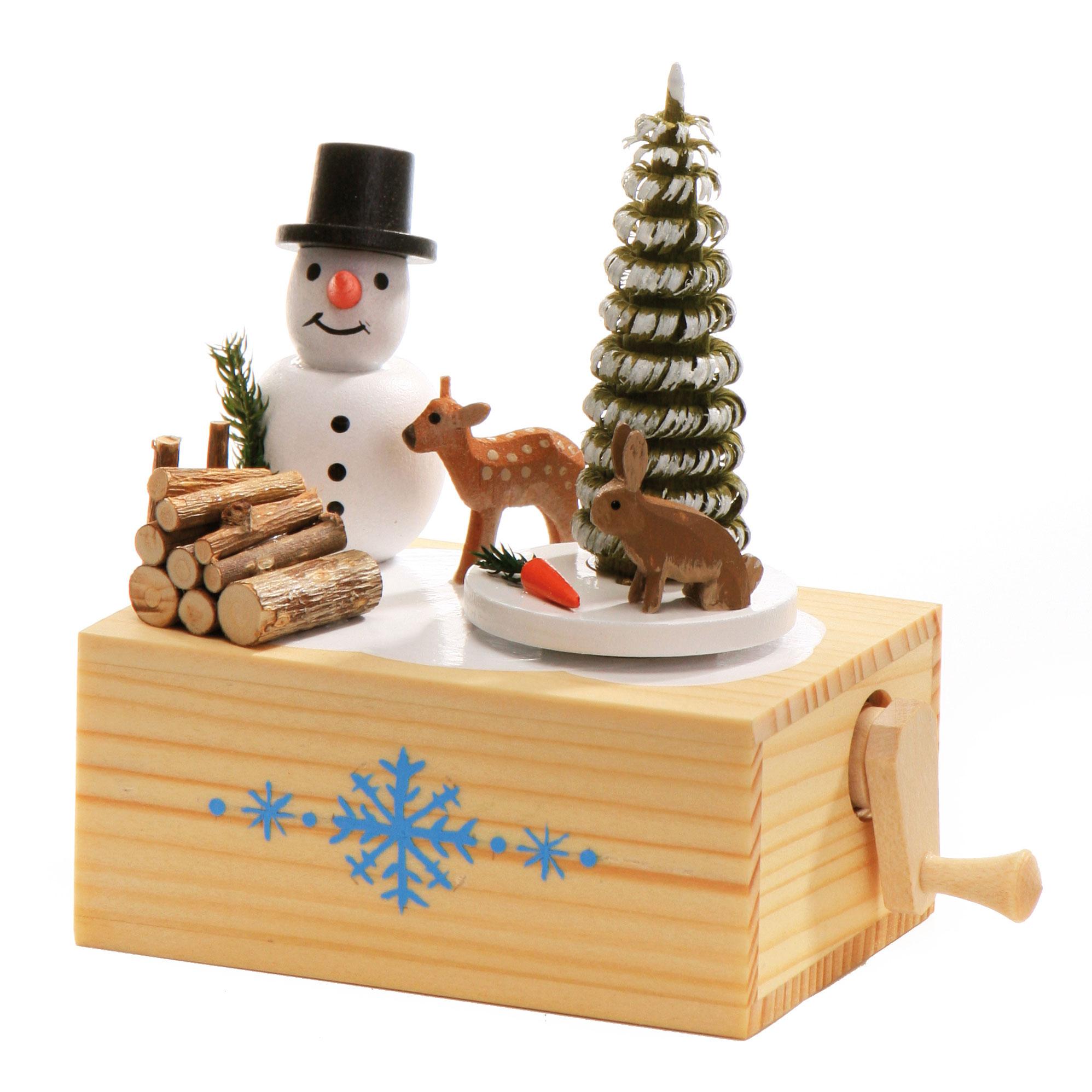 Musikdose mit Schneemann