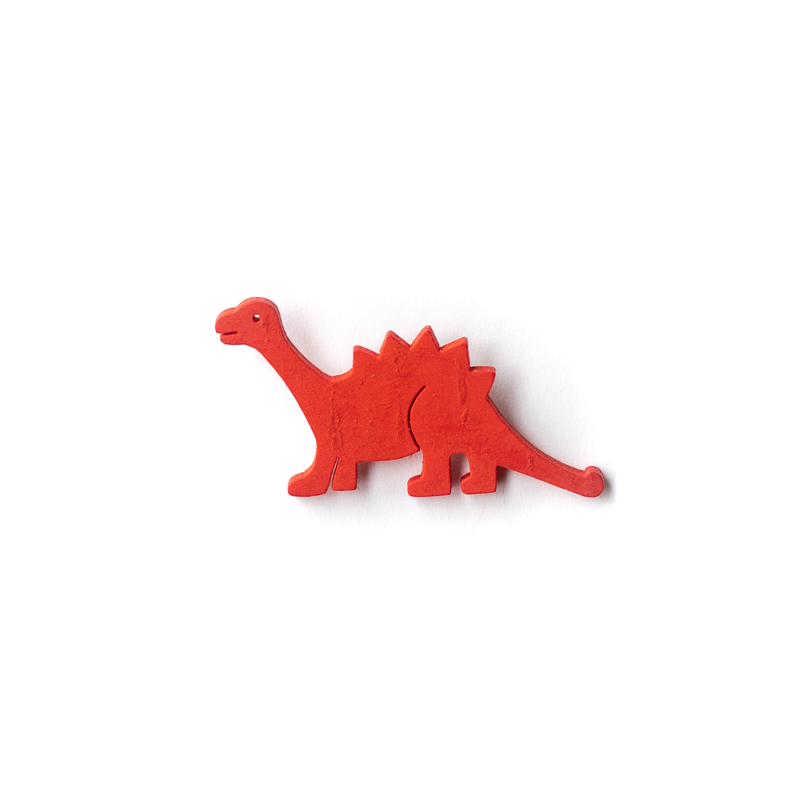 Button Dinosaurier rot